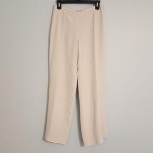 Armani Collezioni Wide Leg Ivory White Pants